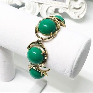 Stella & Dot • Zinnia Green & Gold Bracelet